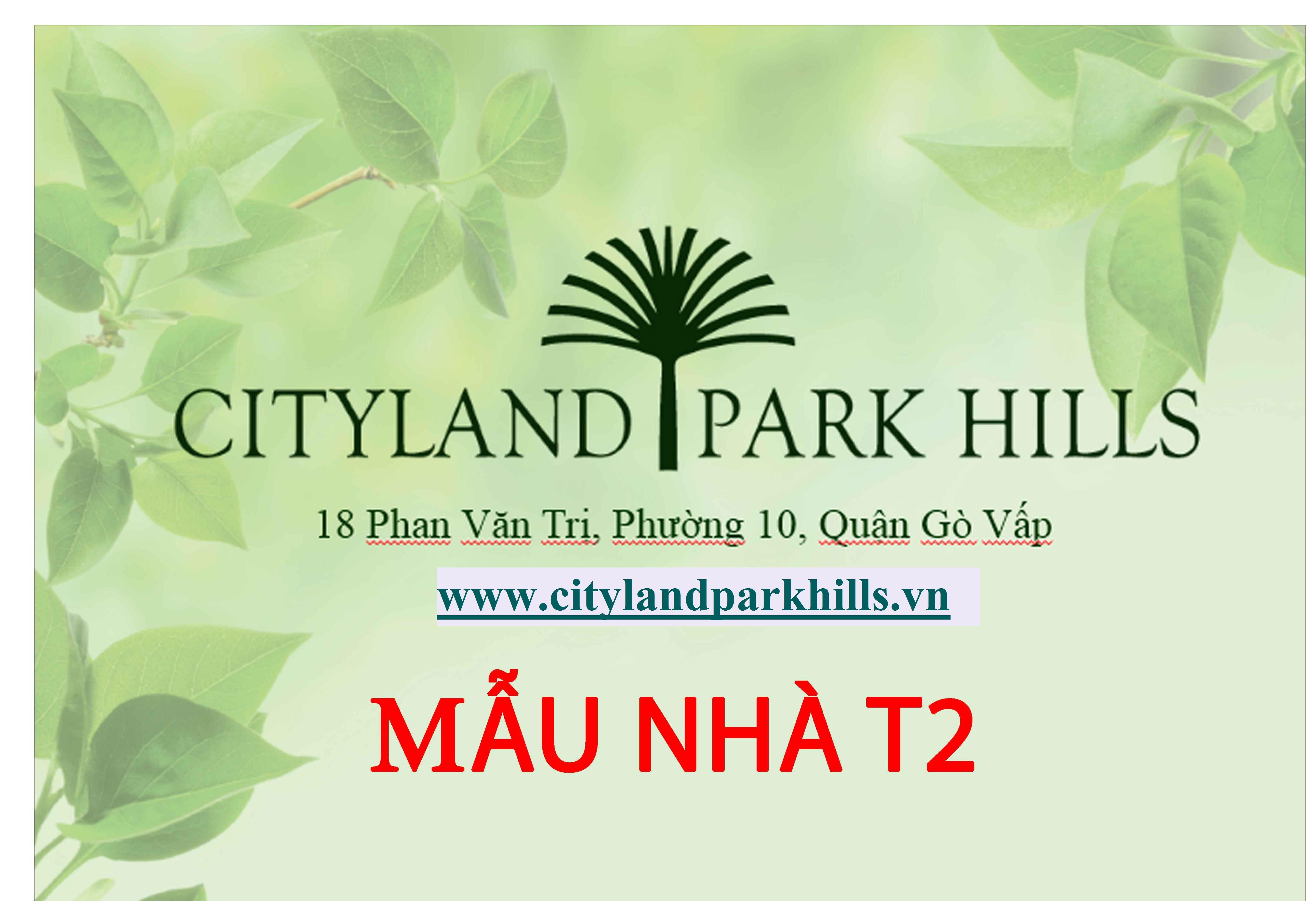 Thiết kế nhà phố Cityland Park Hills mẫu T2 Hầm-Trệt-3Lầu