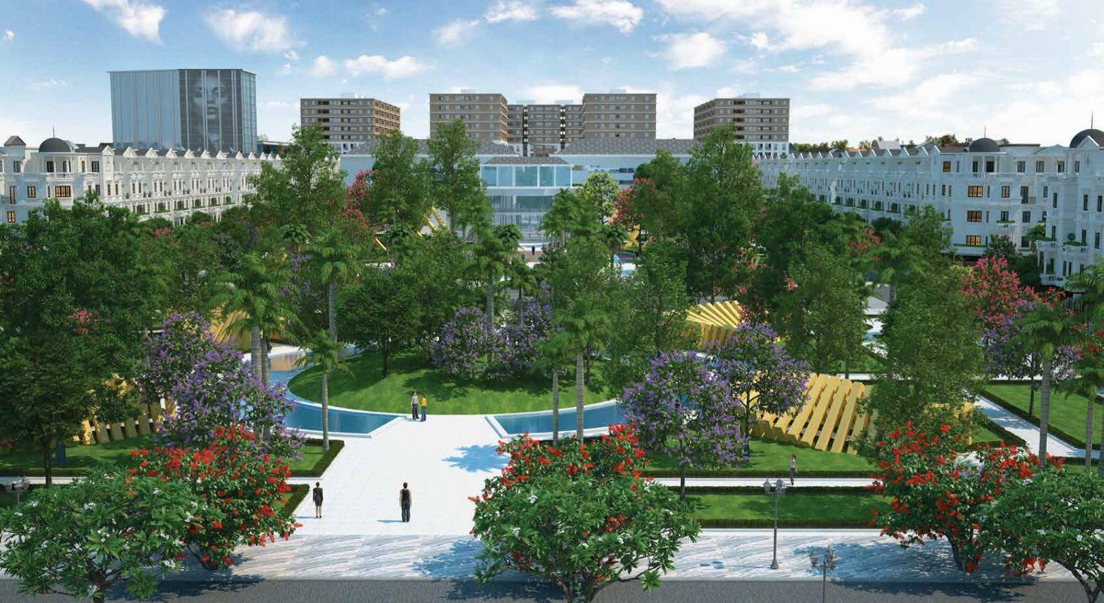 Công viên cây xanh dự án Cityland park hills