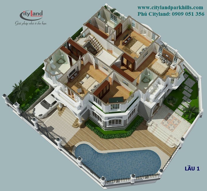Biệt thự đơn lập Cityland Garden Hills