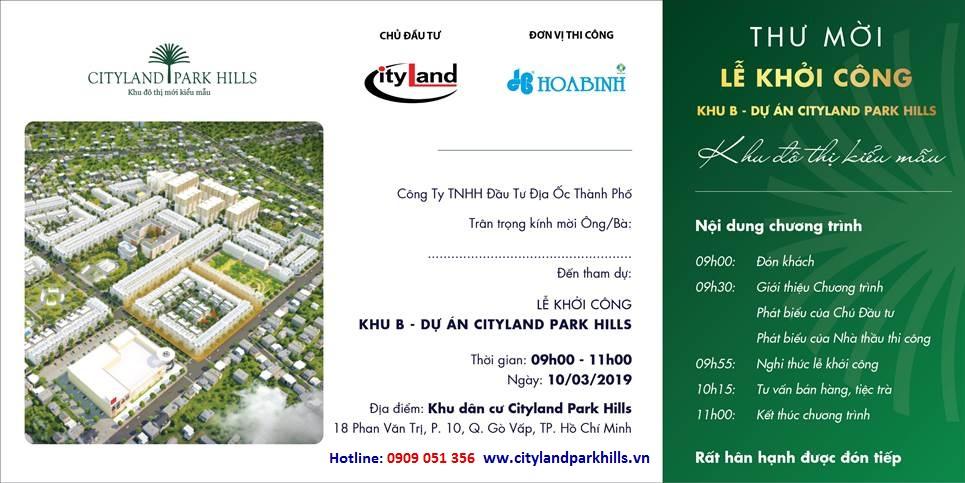 Hòa Bình xây dựng khu B cityland park hills