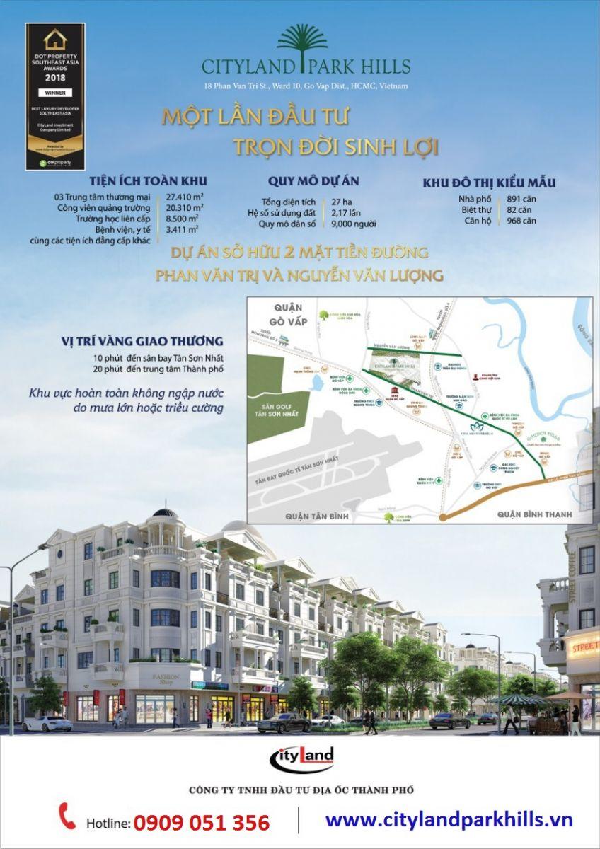 Mở bán Khu B dự án Cityland Park Hills Gò Vấp Ngay Lotte Mart