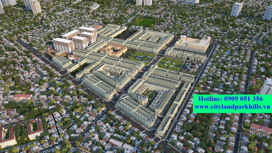 Tồng thể dự án Cityland park hills gò vấp